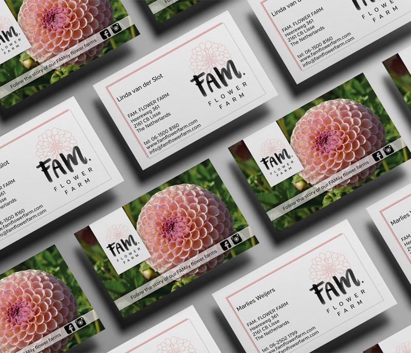 Visitekaartjes Fam. Flower Farm